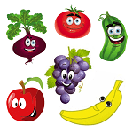 fruits and vegetables name for kids