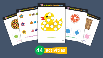 Colors and Shapes FlashCards Nursery