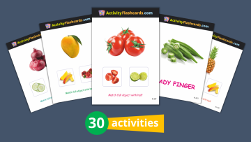fruits and vegetables flashcards nursery