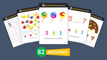 numbers flashcards nursery